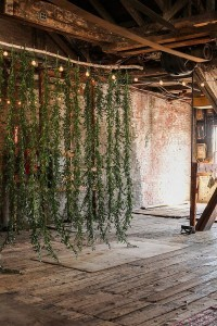 greenery garland chic rustic wedding backdrop ideas