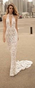 halter and v neckline lace mermaid wedding dress berta 2018 collection 18-4