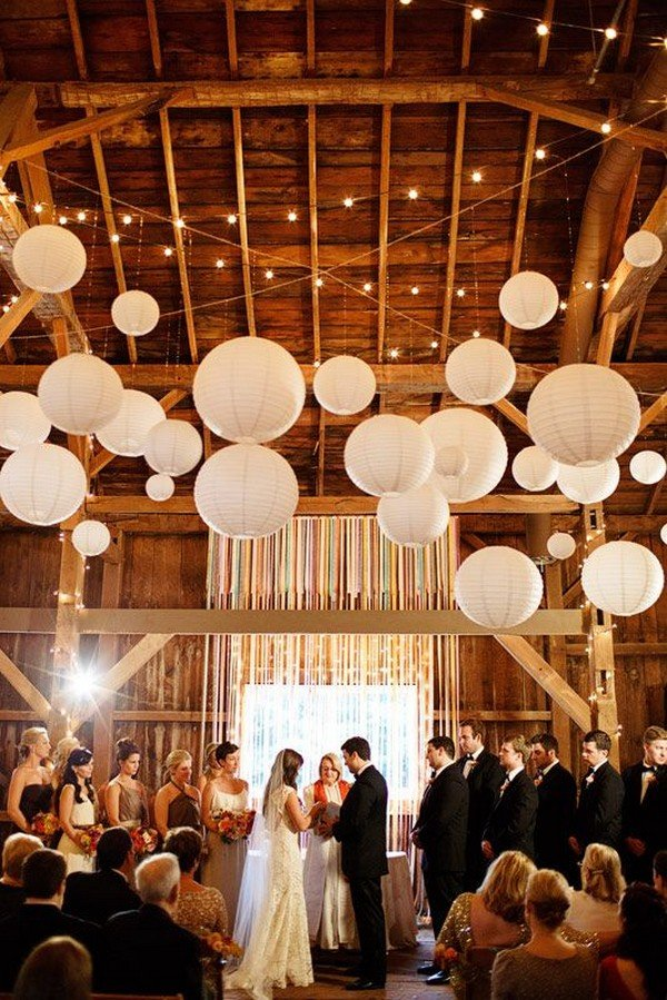rustic barn wedding ceremony decoration ideas