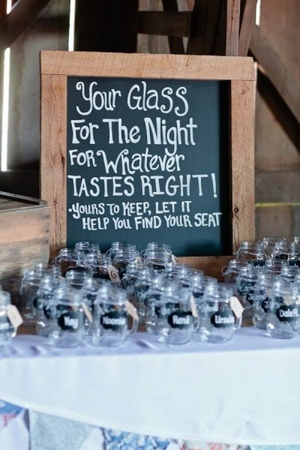 rustic wedding drink station decoration ideas