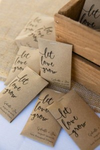 seeds wedding favors for rustic wedding ideas