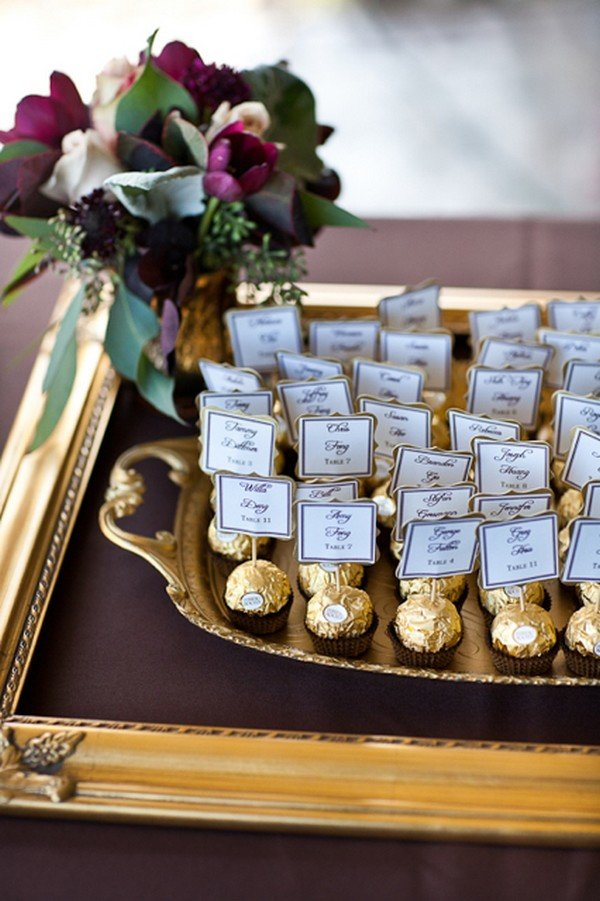 vintage wedding escort card ideas