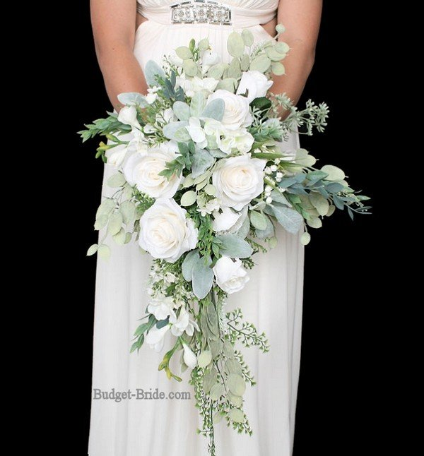 White And Greenery Eucalyptus Wedding Bouquets Oh Best Day Ever