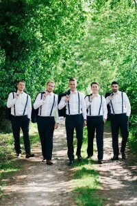Bow Tie Braces Groomsmen Wedding Photo Ideas