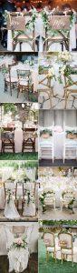 amazing bride and groom wedding chair decoration ideas