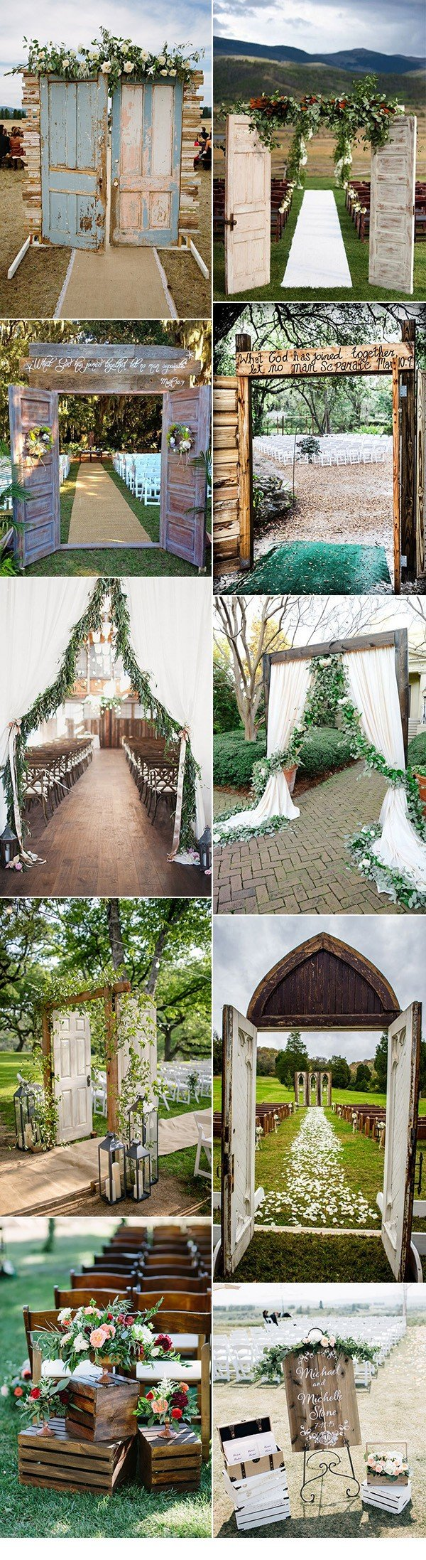 amazing wedding ceremony entrance door decoration ideas