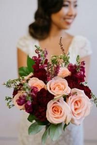 burgundy and blush wedding bouquet