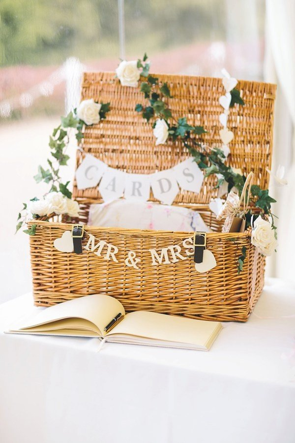 country rustic basket wedding card box ideas