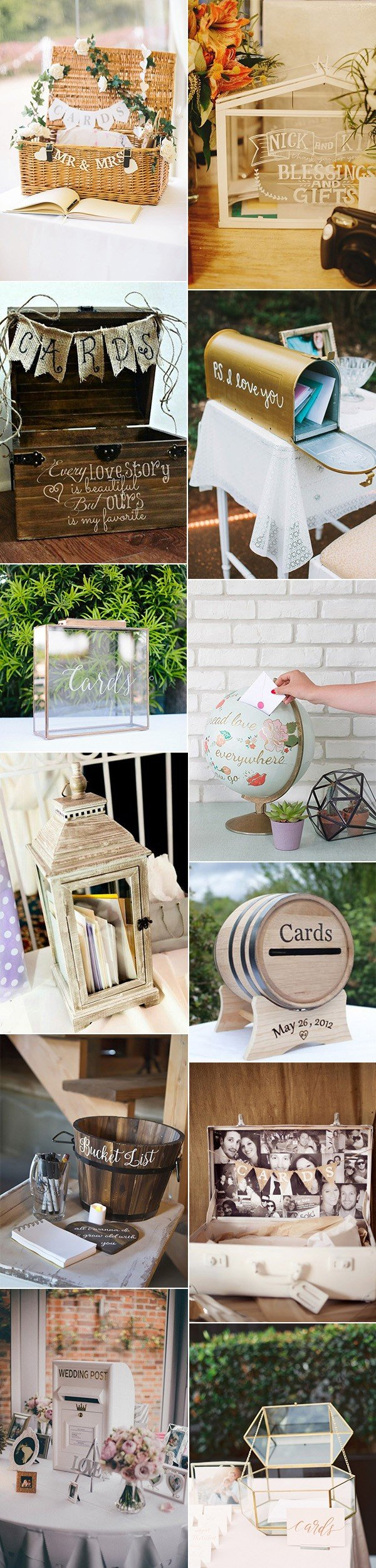 creative wedding card box ideas