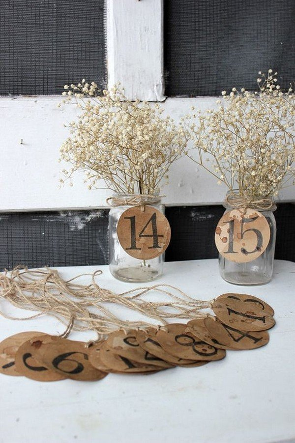 Inspiring wedding table number ideas to love page