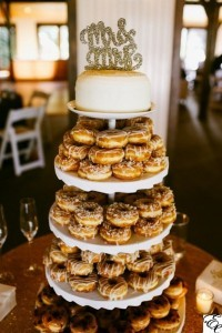 donut wedding dessert and cake display ideas