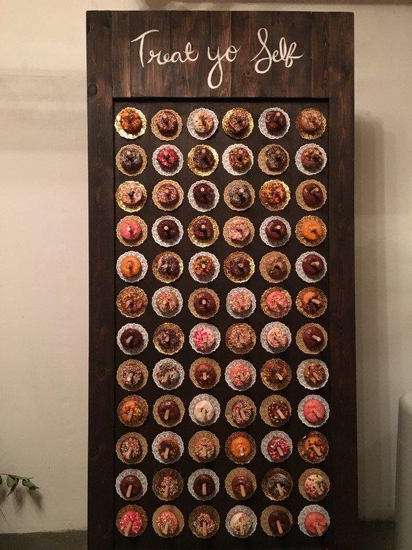doughnuts wedding dessert wall ideas