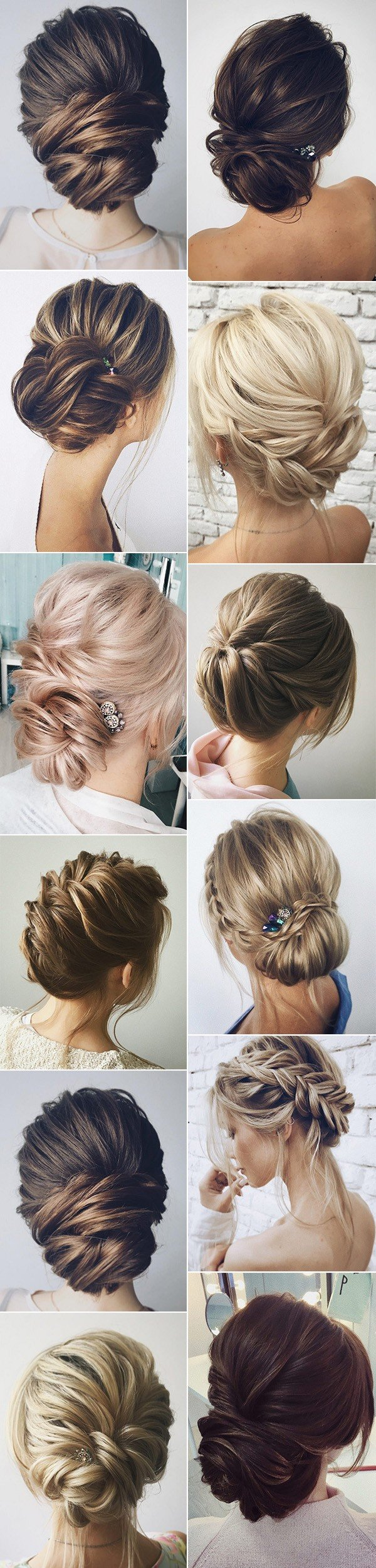 elegant bridal updos wedding hairstyles
