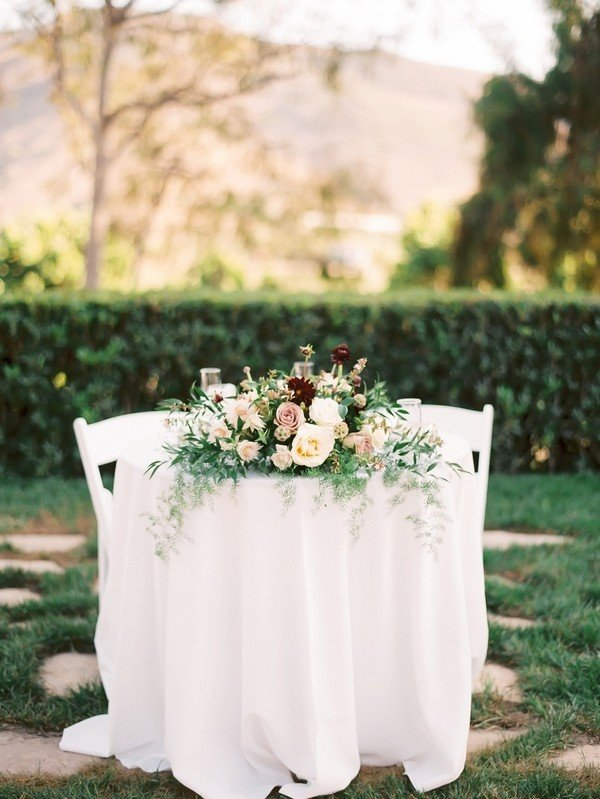 elegant sweetheart wedding table ideas