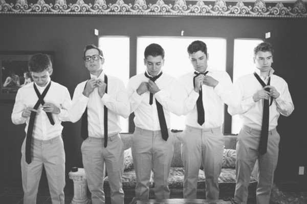 get ready wedding photo ideas with groomsmen