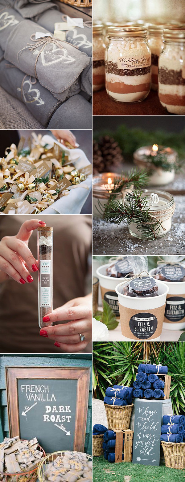 gorgeous winter wedding favor ideas