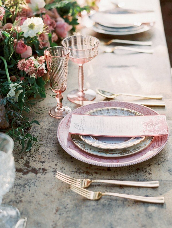 mauve wedding centerpiece ideas