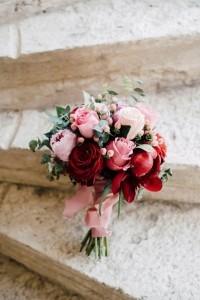 romantic rose wedding bouquet ideas