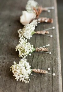 rustic baby's breath boutonniere ideas