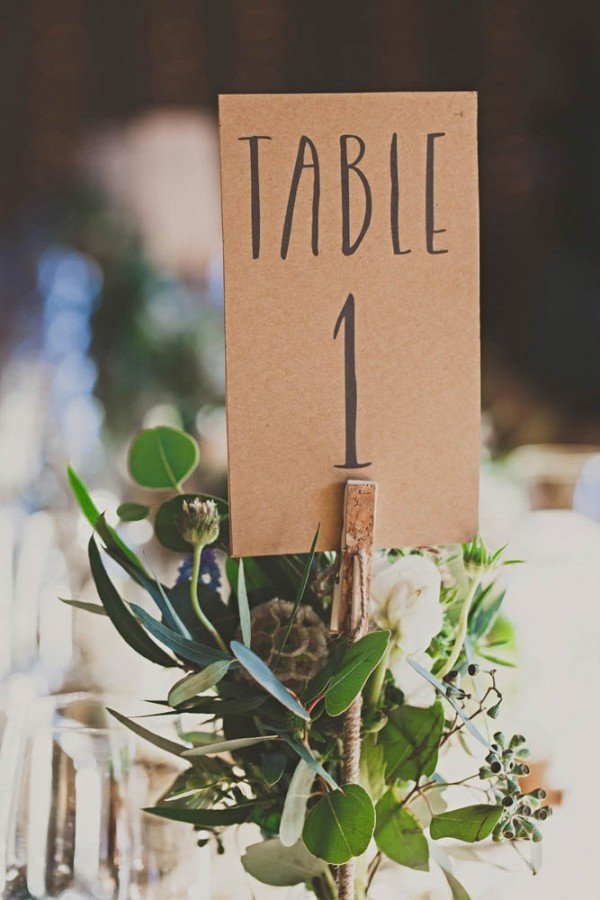 rustic themed wedding table number ideas