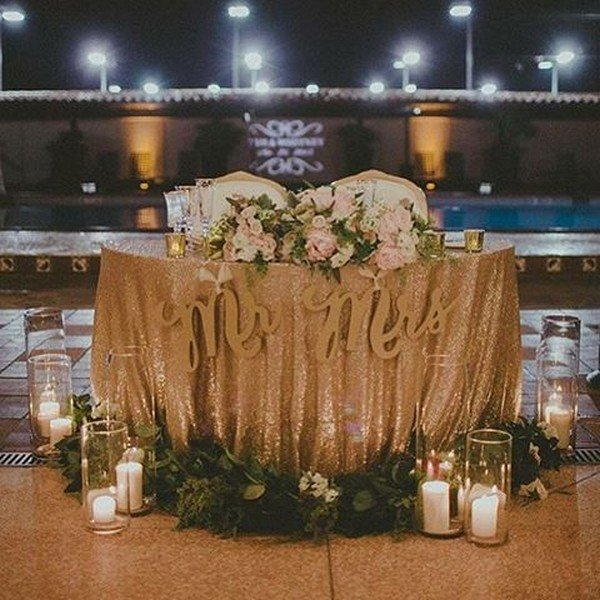 sweetheart wedding table decoration ideas