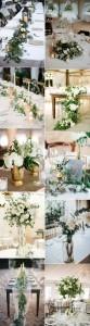 trending greenery wedding centerpiece ideas