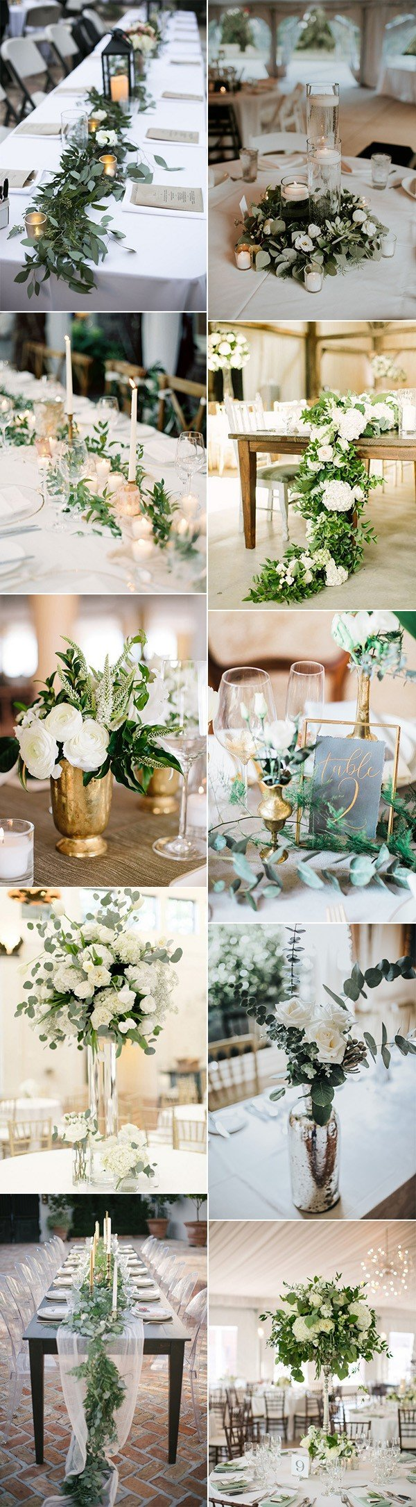 trending greenery wedding centerpiece ideas