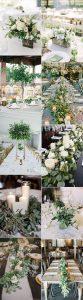 trending white and green wedding centerpiece ideas