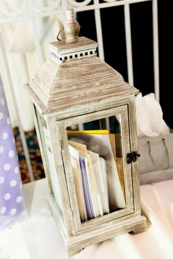 vintage lantern wedding card box