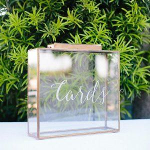 vintage metallic wedding card box ideas