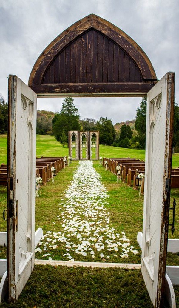 vintage wedding ceremony decoration ideas