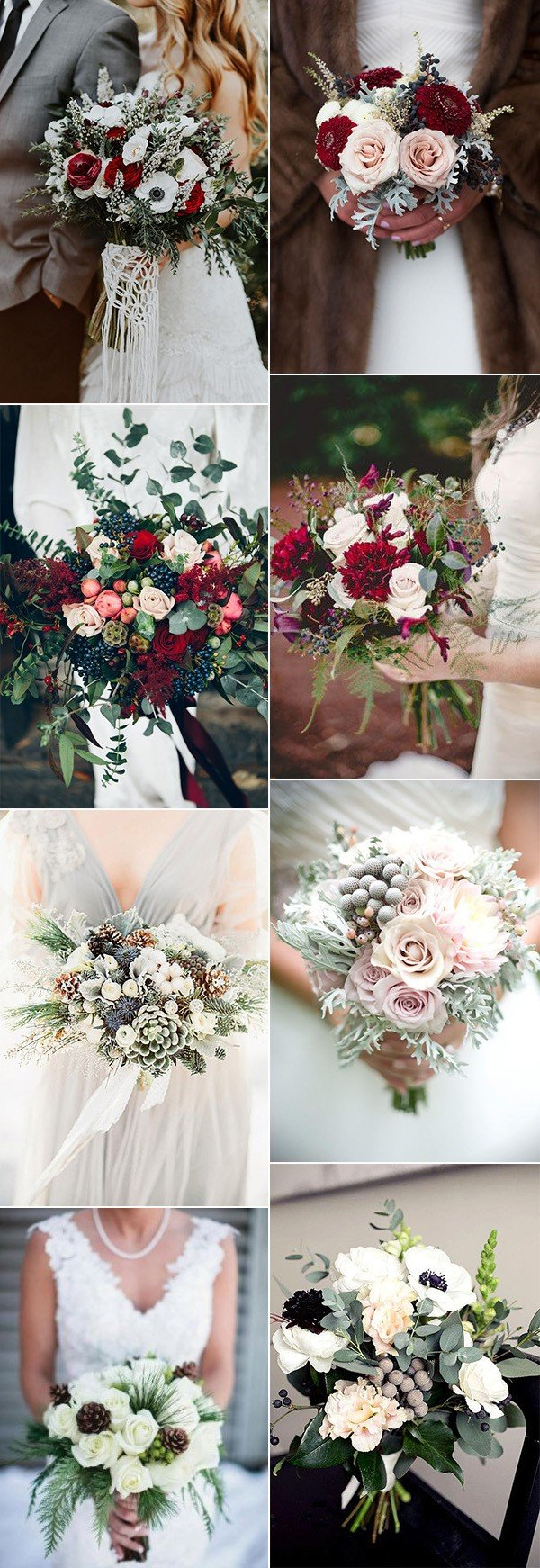 wedding bouquets for winter wedding ideas 2017