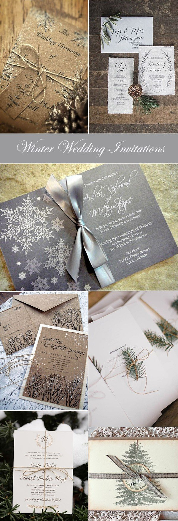 winter wedding invitation ideas for 2017 trends