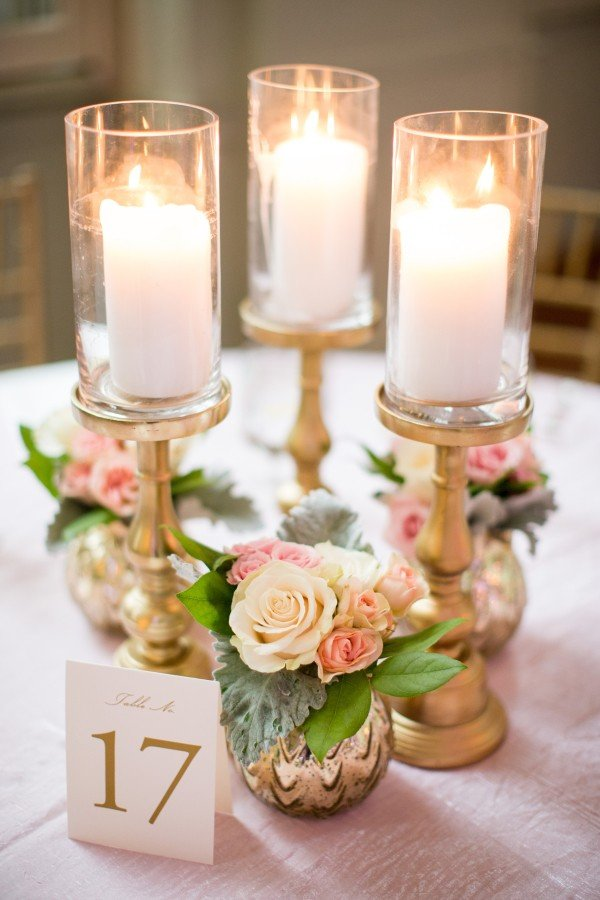 Pillar Candle Wedding Centerpiece Ideas