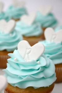 Tiffany themed wedding cupcakes