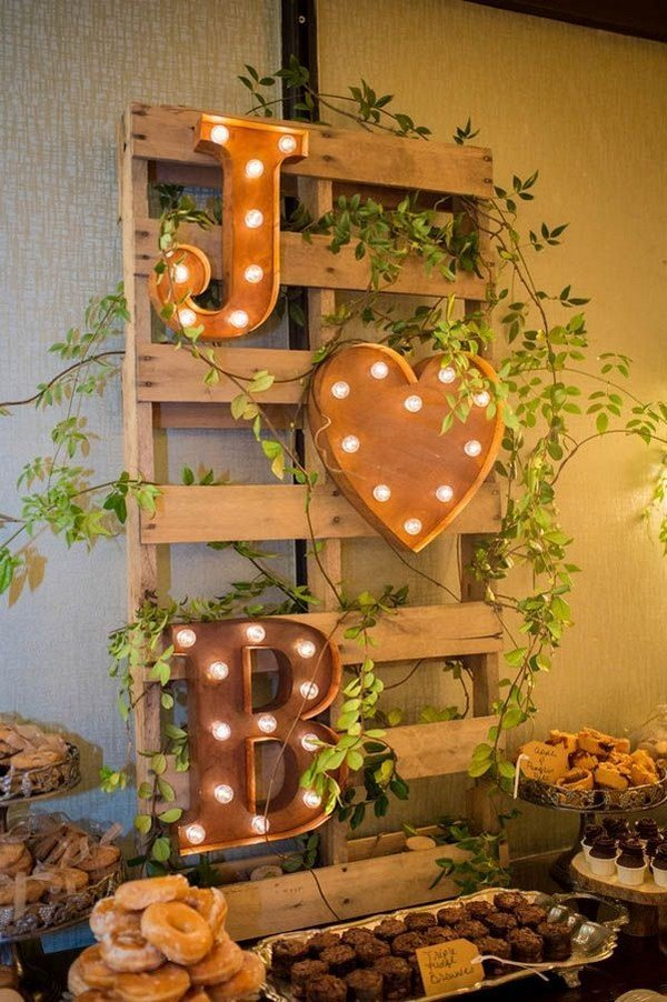 country wedding decoration ideas with lights
