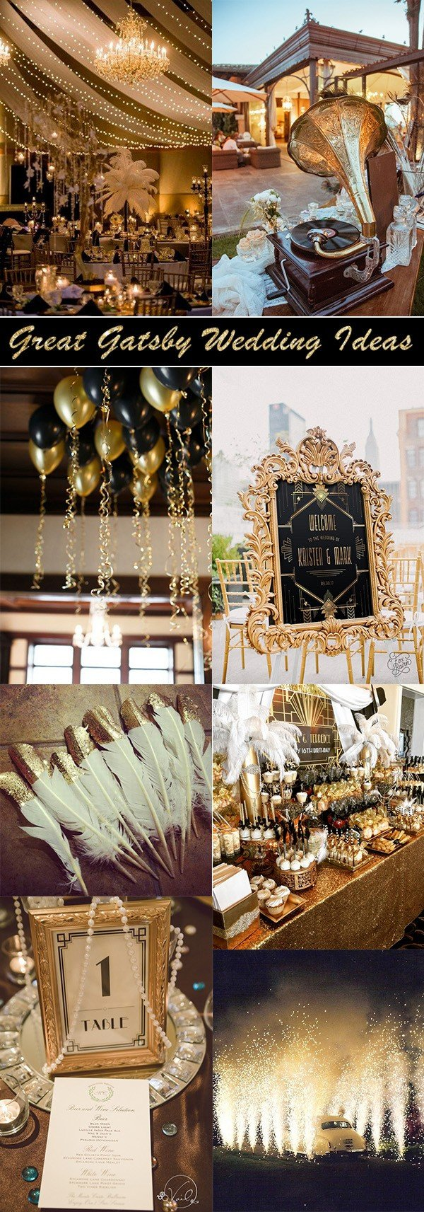 great gatsby themed vintage wedding ideas