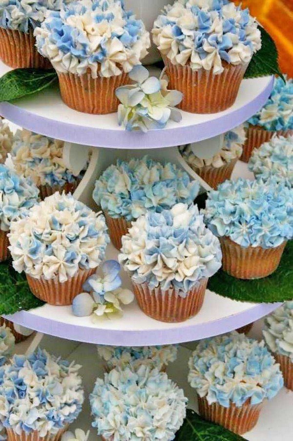 Wedding Cupcake Ideas.Hydrangea Wedding Cupcake Ideas Oh Best Day Ever
