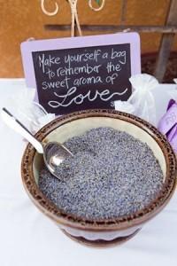 lavender themed wedding favors