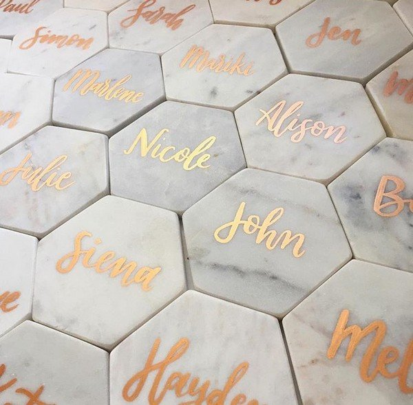 personalized marble coasters wedding favor ideas