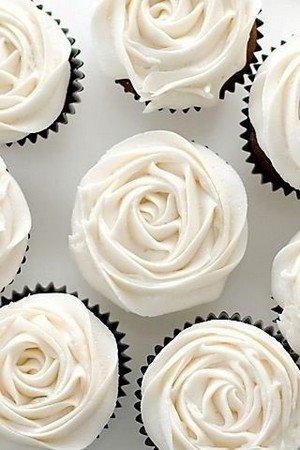 rose buttercream wedding cupcakes