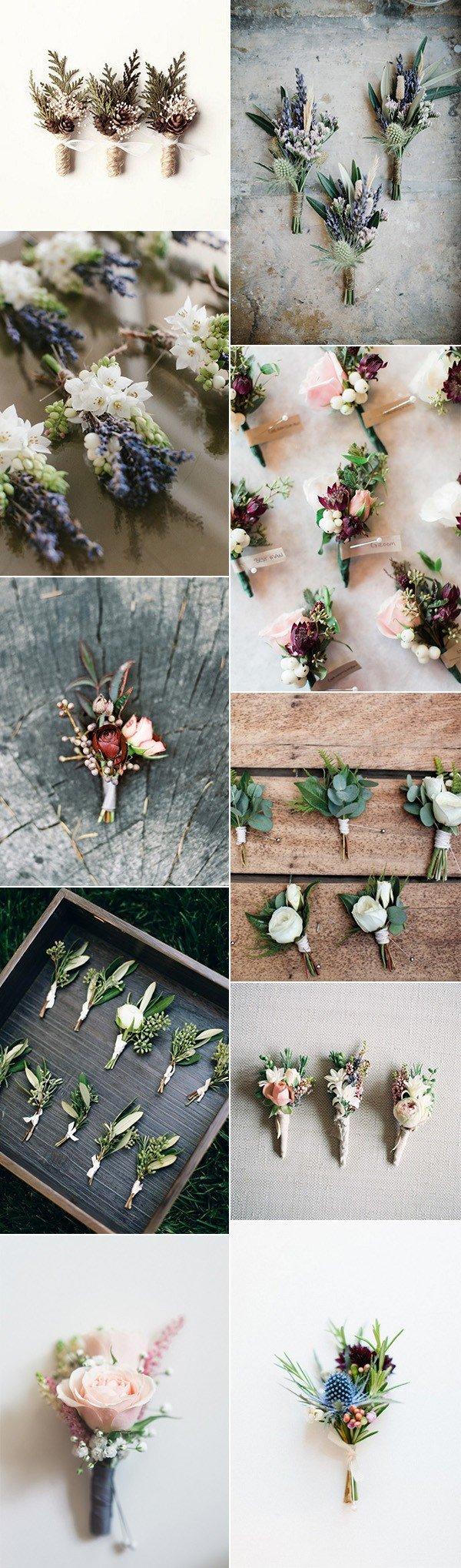 stylish groomsmen wedding boutonniere ideas