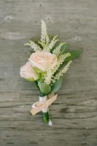 sweetheart pink rose wedding boutonniere ideas