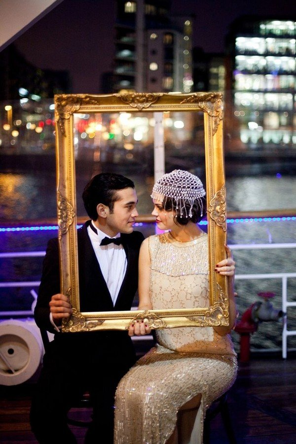 the great gatsby wedding photo ideas