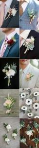 trending chic wedding groomsmen boutonniere ideas