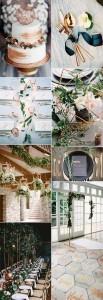 trending metallic copper wedding color ideas