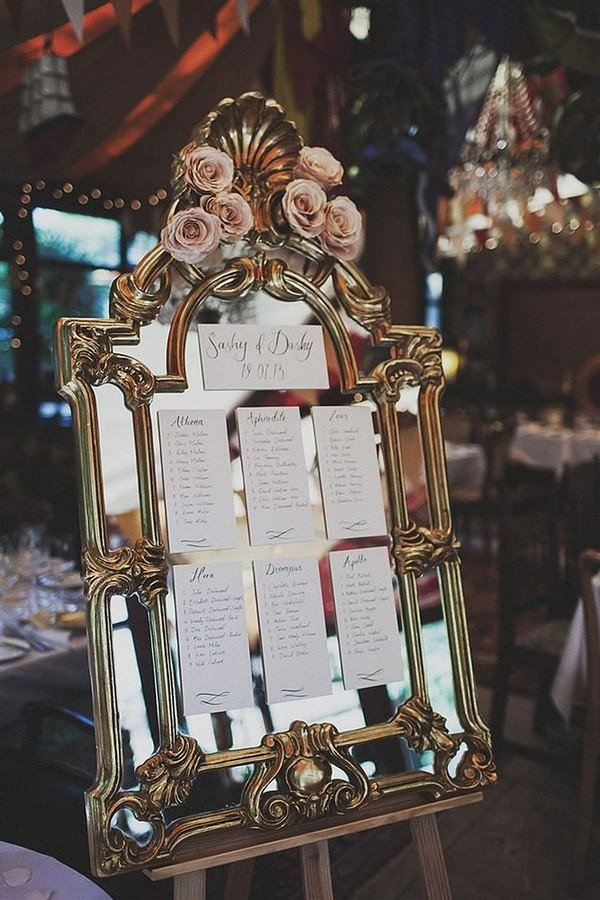 vintage great gatsby themed wedding seating plan decorations