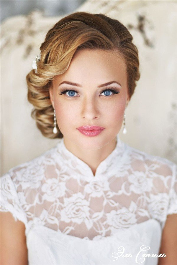 vintage updo wedding hairstyles
