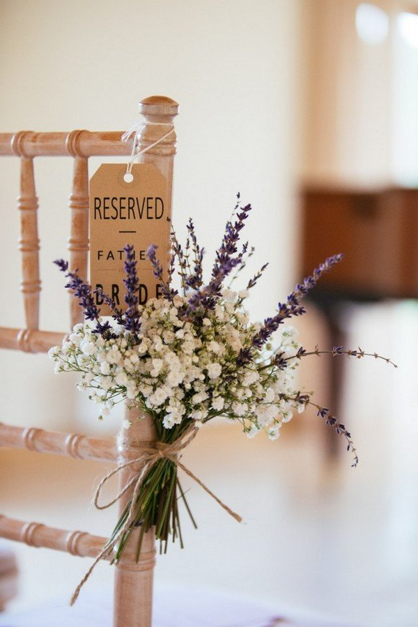 wedding chair decoration ideas with lavender