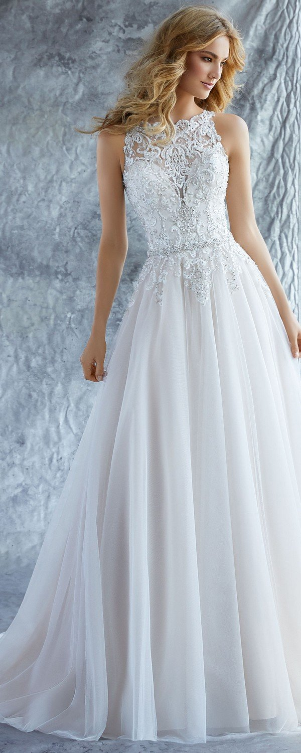 Katie high neck Morilee wedding dress 2018